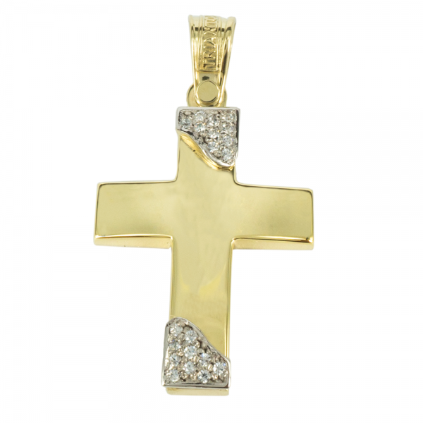 Σταυρός 14Κ Κίτρινο Χρυσό ΤΡΙΑΝΤΟΣ Γυναικείος ST1449 ΣΤΑΥΡΟΥΣ Κοσμημα - gougoudis.gr