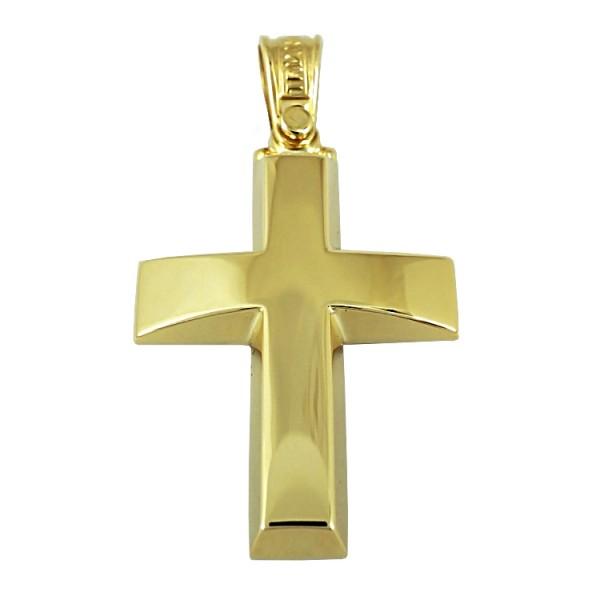 Σταυρός 14Κ Κίτρινος Χρυσός Ανδρικός ΤΡΙΑΝΤΟΣ ST1602 ΣΤΑΥΡΟΥΣ Κοσμημα - gougoudis.gr