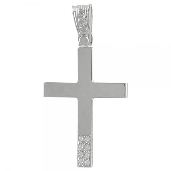 Σταυρός  Κ14 Λευκόχρυσος Γυναικείος ΤΡΙΑΝΤΟΣ ST1917 ΣΤΑΥΡΟΥΣ Κοσμημα - gougoudis.gr